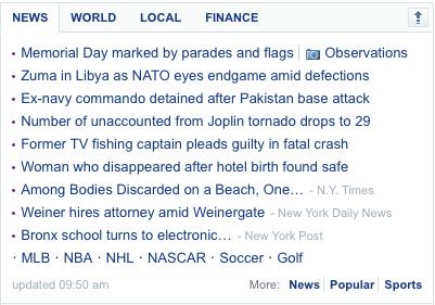 Yahoo News Module
